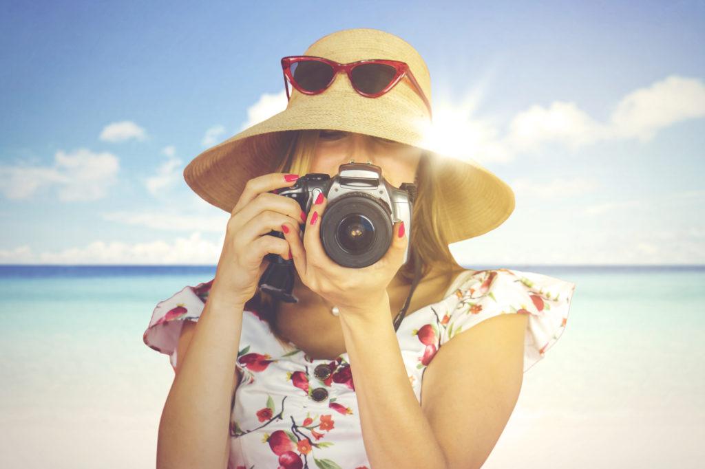 Kamera på ferien